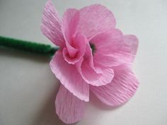 Try These Fun Spring Crafts with Your Kids: How to Make Crepe Paper Flowers