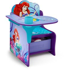 Disney Little Mermaid Desk & Chair with Storage Bin for belles