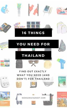 What Do You Need for Thailand? 16 things you need for Thailand – including everything you definitely need, and things that you might. From staying safe in Thailand, to enjoying the beach – here's your total list. Click through to read more: Thailand Shopping, Thailand Vacation, Thailand Honeymoon, Thailand Travel Guide, Phuket Thailand, Backpacking Thailand, Cruise Vacation, Thailand Art, Phuket Travel