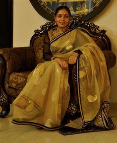 Maharani blouse and Benaras Net  saree