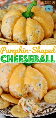 THE BEST PUMPKIN-SHAPED CHEESEBALL