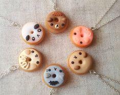 Collier donut animaux, collier gourmand, bijoux alimentaire miniature, pendentif anneau, collier kawaii, meilleur ami, animal totem