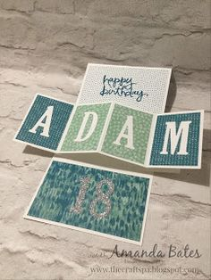 The Craft Spa - Stampin' Up! UK independent demonstrator : 18th Birthday Pop Up Panel Card for Adam