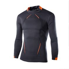 pretty nice cdeaa 9d817 Men Long Sleeve Compression High O-Neck Shirt Bodybuilding T Shirts,  Bodybuilding Fitness,