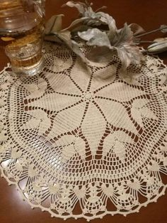 Check out this item in my Etsy shop https://www.etsy.com/listing/502256242/beige-crochet-lace-doily-tabletopper