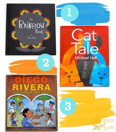 Great children's art books to use for inspiring their style or to read at an art party