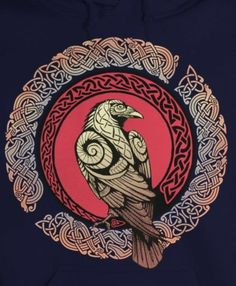 ancient nordic art of fish Viking Rune Tattoo, Crow Art, Raven Art, Celtic Tattoos, Viking Tattoos, Celtic Raven Tattoo, Wiccan Tattoos, Indian Tattoos, Celtic Patterns