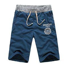 Men's Short Summer Beach Jogger Pockets Trousers Sports Gym Pants Slacks Jogging
