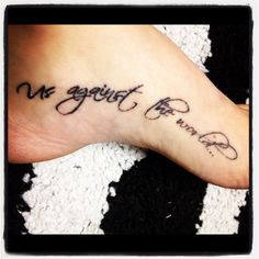 Us Against the World...BFF tattoo