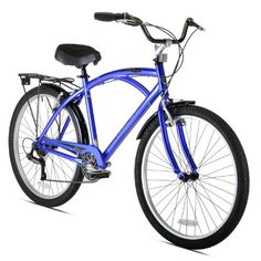 Cool Kent Men's Bay Breeze 7-Speed Cruiser Bicycle, 18-Inch/One Size, Blue