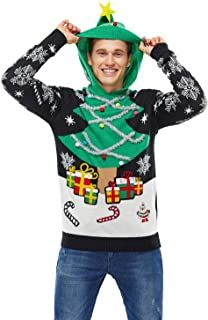Ugly Christmas Sweater - Ideas that Win all the Ugly Sweater Contests Tacky Christmas, Ugly Christmas Sweater, Christmas Tree, Christmas Bingo, Pullover, Sweater Hoodie, Men Sweater, Elf, Ugly Sweater Contest