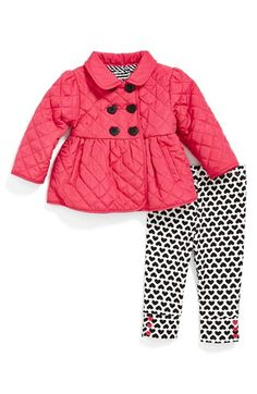 Little Me Jacket, Top & Leggings (Baby Girls) available at #Nordstrom