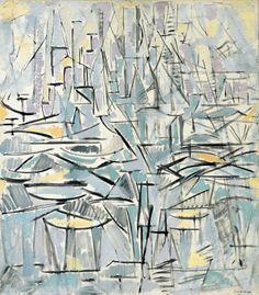 Piet Mondrian (Dutch, 1872-1944), Composition No. XVI, Compositie 1 (Arbres), 1912-13. Oil on canvas, 85.5 x 75 cm.