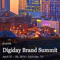 We're excited to announce that Moontoast is sponsoring the DIGIDAY Brand Summit in Nashville at the end of April! Find out the details...