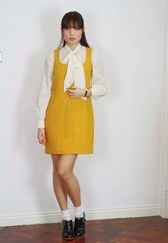 HARRIS TWEED  60S WOOL SHIFT DRESS
