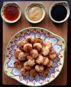 Check out this healthy baked coconut shrimp appetizer and other fun Super Bowl foods on www.soupbowlrecipes.com