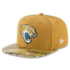 NFL Jacksonville Jaguars New Era Gold Color Rush On-Field Original Fit 9FIFTY Snapback Adjustable Hat