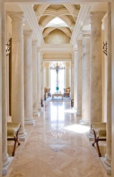 Mediterranean Home Design ... look at that ceiling !