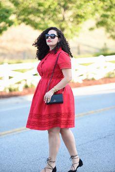 Dress: Talbots c/o *Runs big, size down. I'm wearing a 14W / Bracelets: Spartina449 c/o / Pearl Ring: Asos / Sunglasses: Dior, old (current season here) /