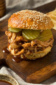 Slow Cooker BBQ Chicken For Sandwiches - Made with chicken breasts, ketchup, brown sugar, Worcestershire sauce, soy sauce, cider vinegar, cayenne pepper, garlic powder | CDKitchen.com Recipes Using Cooked Chicken, Chicken Sandwich Recipes, Bbq Chicken, How To Cook Chicken, Slow Cooker Bbq, Sandwiches For Lunch, Turkey Dishes, Creamed Mushrooms, Quick Meals