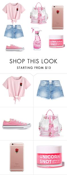 """everyday set"" by evagelialove on Polyvore featuring WithChic, Frame, Converse, ETUÍ and Moschino"