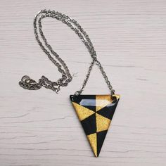 Tono Oro 6cm de largo hermoso y Madera Efecto Geométrico Drop-colgantes pendientes