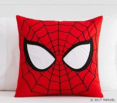 Shop spiderman from Pottery Barn Kids. Find expertly crafted kids and baby furniture, decor and accessories, including a variety of spiderman. Diy Pillows, Decorative Pillows, Cushions, Throw Pillows, Treehouse Loft Bed, Cool Beds For Kids, Man Pillow, Joko, Panel Quilts