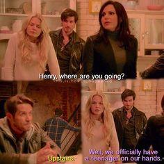 """Regina, Henry, Emma, Killian and Robin - 5 * 16 """"Our Decay"""""""