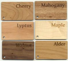 laser etching wood species