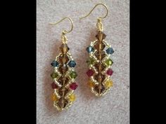 Flat Spiral Stitch Earrings  ~ Seed Bead Tutorials