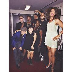 The #BlackLight crew is READY! (And currently KILLIN it on stage...) #JomamaJones @danielalexanderjones