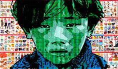 "Nikolay Vasilyev; Assemblage / Collage, 2012, Street Art ""boy"""