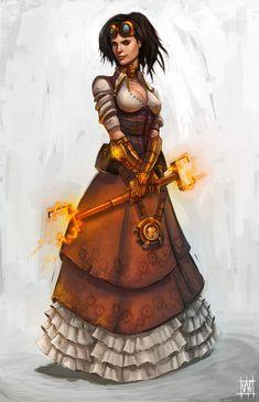 Steampunk Girl by volkanyenen