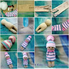How to sew a cute Doll step by step DIY tutorial instructions