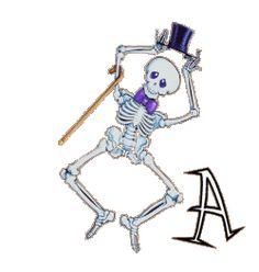 Oh my Alfabetos!: Alfabeto con esqueleto bailando.