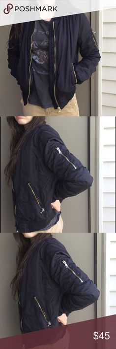 Topshop Ma1 Bomber Jacket Size 4 Cute TOPSHOP Ma1 Bomber Jacket Size 4 has a little scuffing shown in pic 8 Topshop Jackets & Coats