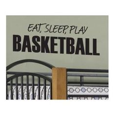 Eat Sleep Basketball Vinyl Wall Sticker Art Decor Decal Lettering Quote S12