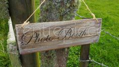 Wooden Wedding Sign Hanging Vintage Photo Booth