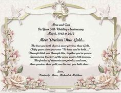 50th wedding anniversary poem gift for mom dad anyone