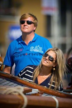 King Willem-Alexander and Queen Maxima sail on the Groene Draeck during Sail 2015 in Amsterdam, The Netherlands, 22 August 2015.