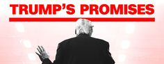 Tracking #Trump's #Promises: Donald Trump made hundreds of promises, pledges and threats on his road to the White House. This continuously updated interactive feature tracks his progress in delivering on that agenda at the beginning of his term.