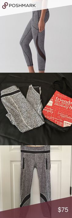 Lululemon invigorate tight leggings Worn once very cute leggings! Good stretch and great for casual and workout wear! Super comfy and in great condition! lululemon athletica Pants Leggings