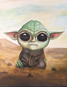 Yoda Baby Childhood, Tattos, Baby, Star Wars, Painting, Fictional Characters, Tela, Paintings, Infancy