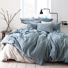Luxury Bedding Sets On Sale Cozy Bedroom, Bedroom Inspo, Dream Bedroom, Master Bedroom, Bedroom Decor, Master Suite, Bedding Decor, Gray Bedding, Linen Bedroom