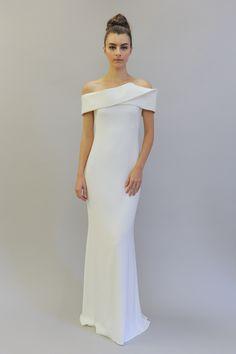 5 Off-the-Shoulder Wedding Dresses We Love From the Bridal Runways | Brides