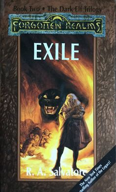 Exile book two of the Dark Elf Trilogy by R. A. Salvatore   books