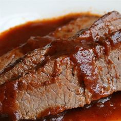 ... beef brisket 1 tablespoon olive oil 4 cloves of garlic sliced thin red