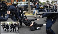 Left-wing rioters take to the streets of Paris the day after French election to protest the new president's 'capitalist' agenda  Read more: http://www.dailymail.co.uk/news/article-4485212/Ready-use-tough-negotiating-skills-Monsieur-Macron.html#ixzz4gWDPXVj8 Follow us: @MailOnline on Twitter   DailyMail on Facebook