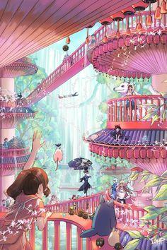 All Studio Ghibli Movies, Studio Ghibli Poster, Studio Ghibli Characters, Studio Ghibli Art, Totoro, Personajes Studio Ghibli, Studio Ghibli Background, Images Murales, Japon Illustration