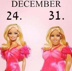 #seriously! #barbie#girlproblems#christmastime#bulking#ugh